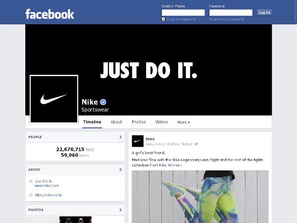 https://www.facebook.com/nike with script